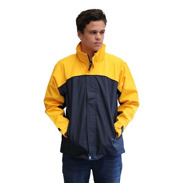 Benj Jacket – Navy/Yellow