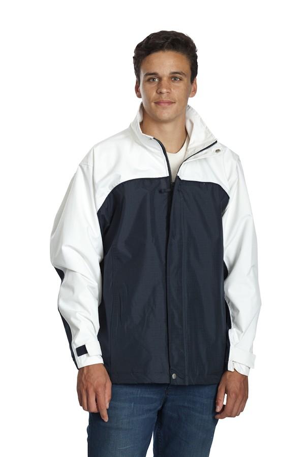 Benj Jacket -Navy/White