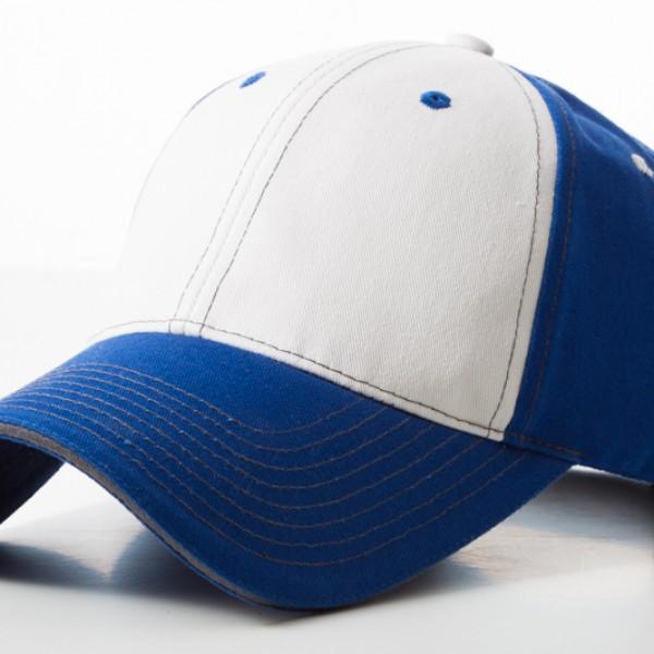 Contrast Stitch Royal White Cap
