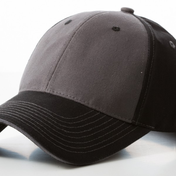 Contrast Stitch Black Grey Cap