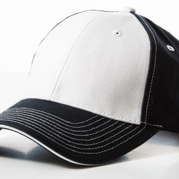 Contrast Stitch Navy White Cap