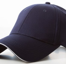 Promotional Navy White Caps 100% cotton