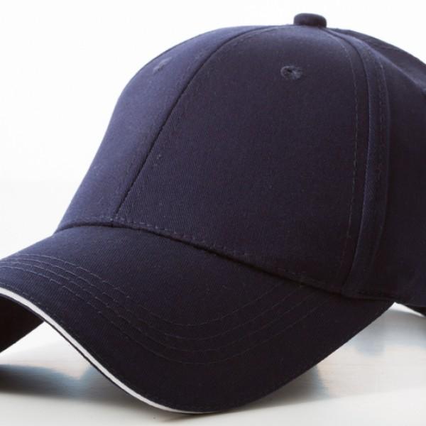 Promotional Navy White Caps 100% cotton