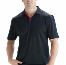 Platinum polo shirt (black/red)