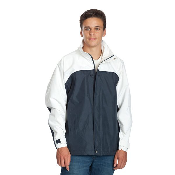 Benj Jacket – Navy/White