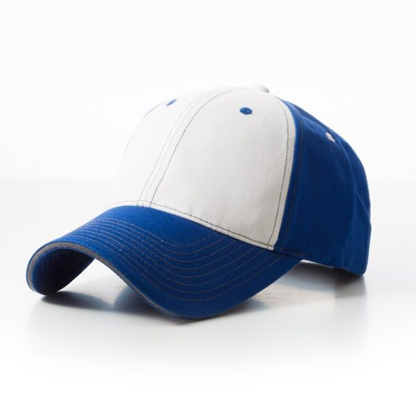 Contrast Stitch Royal White Cap