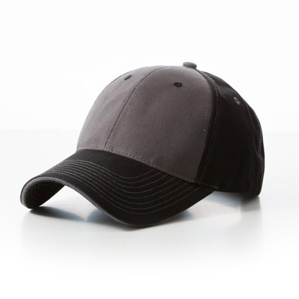 Contrast Stitch Black Grey Cap