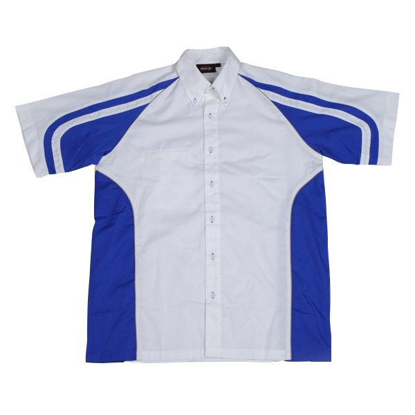 LE MANS PIT CREW SHIRT – Royal/White