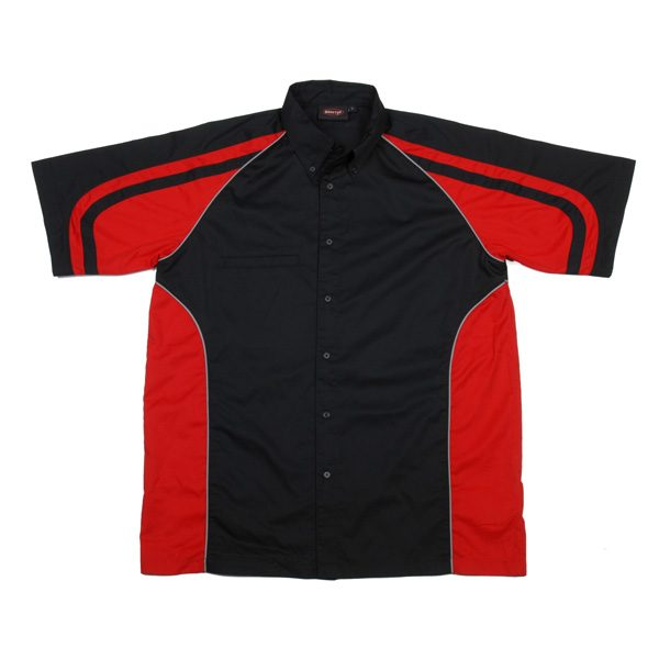 LE MANS PIT CREW SHIRT – Black/Red