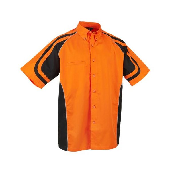 LE MANS PIT CREW SHIRT – Orange/Black