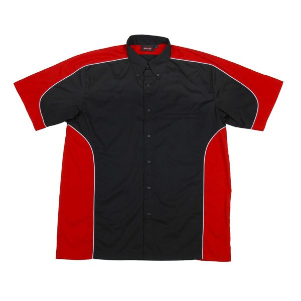 PADDOCK PIT CREW SHIRT – Black/Red