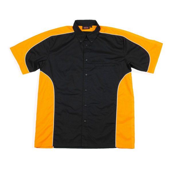 PADDOCK PIT CREW SHIRT – Black/Yellow