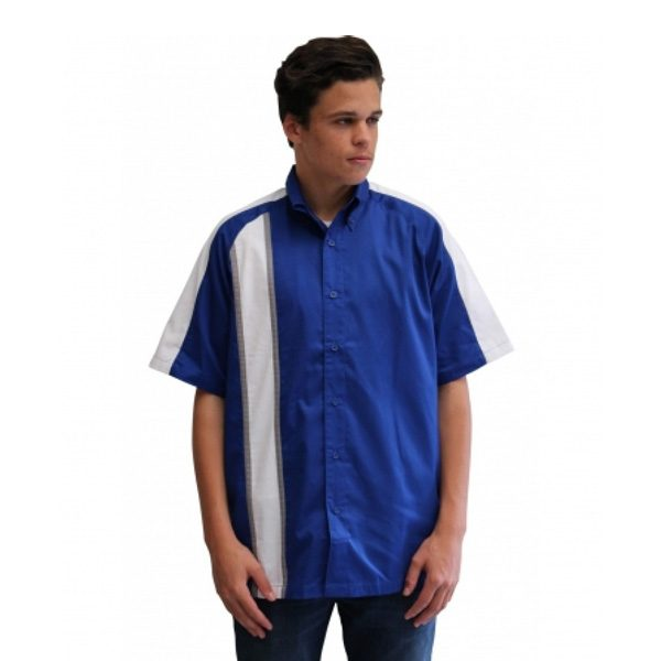 RACE GT STRIPE PIT CREW SHIRT – ROYAL/WHITE