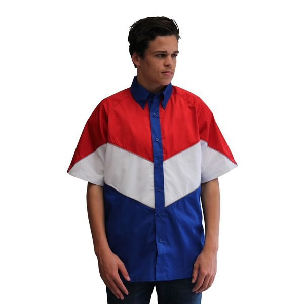 VICTORY PIT CREW SHIRT – ROYAL/RED/WHITE