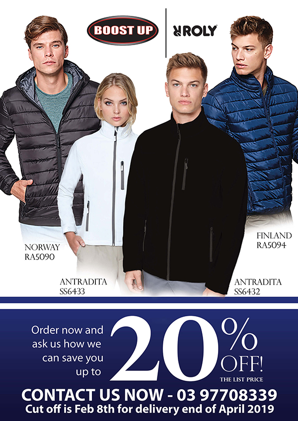 Boostup - What's New - Roly Winter Jackets