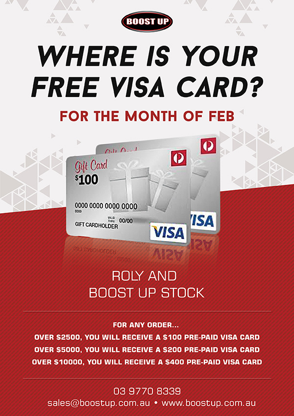 Boostup - What's New - Boostup Embroidery Free Visa Card