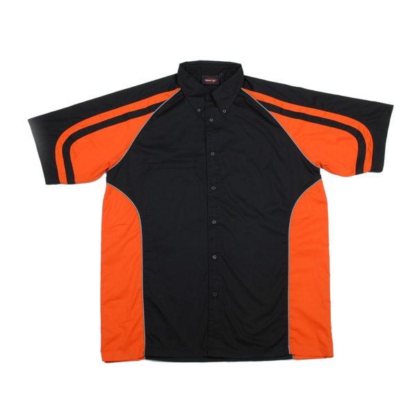 LE MANS PIT CREW SHIRT – Black/Orange